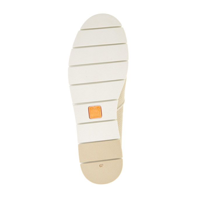 Kožené Slip-on boty s perforací flexible, béžová, 513-8200 - 26