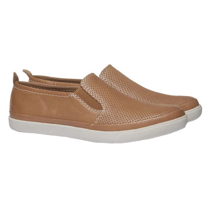 Kožené Plim Soll boty s perforací bata, hnědá, 514-3197 - 26