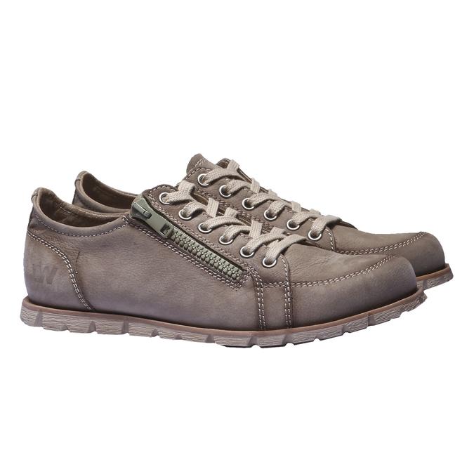 Designová kožená obuv weinbrenner, hnědá, 544-4150 - 26