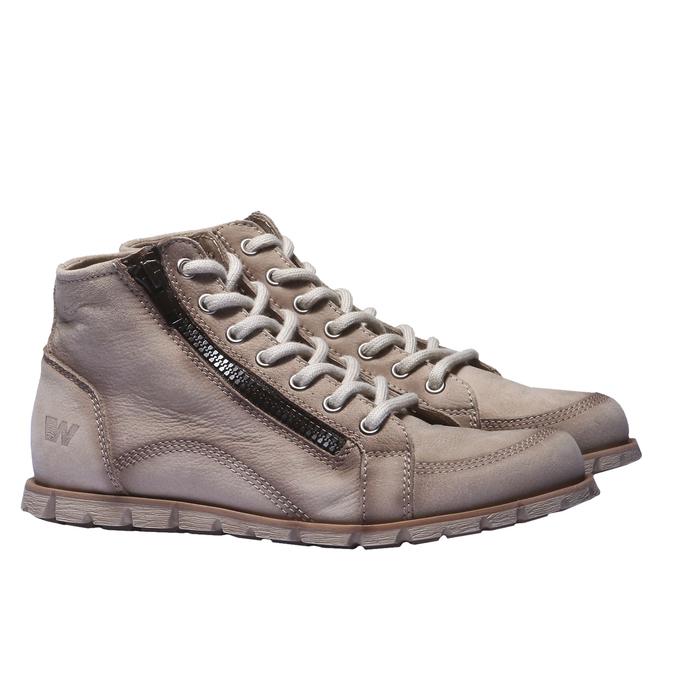 Designová kožená obuv weinbrenner, hnědá, šedá, 544-2145 - 26