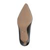 Černé kožené lodičky s měkkou stélkou bata, černá, 624-6388 - 26