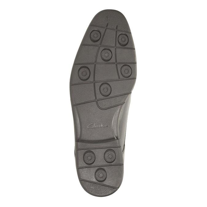 Pánské kožené polobotky clarks, černá, 824-6316 - 26