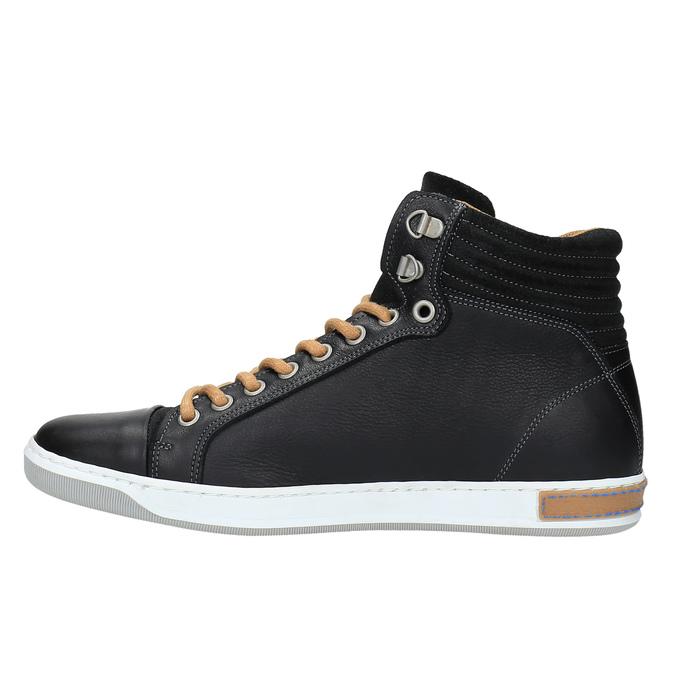 Pánské kotníčkové tenisky bata, černá, 844-6625 - 26