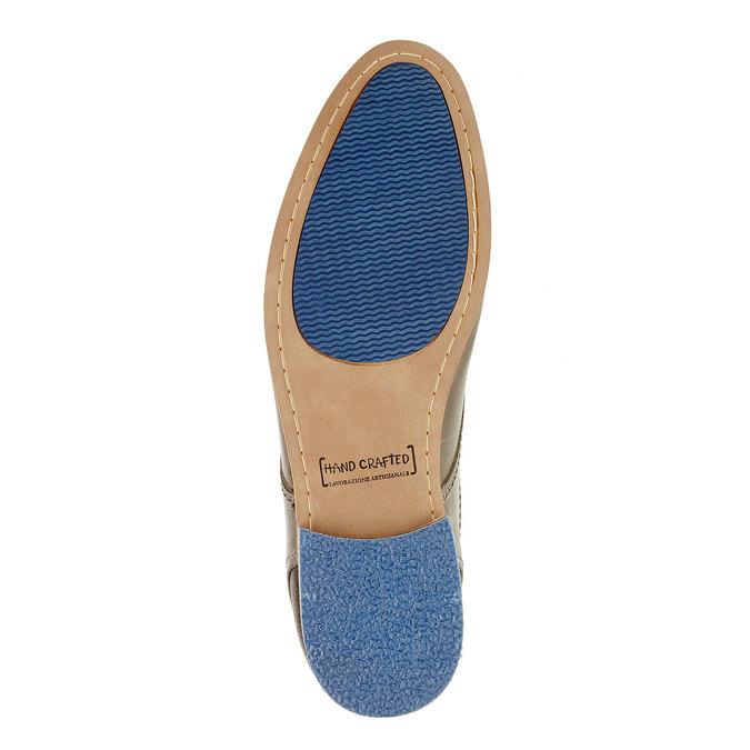 Módní kožené polobotky bata, hnědá, 824-2102 - 26