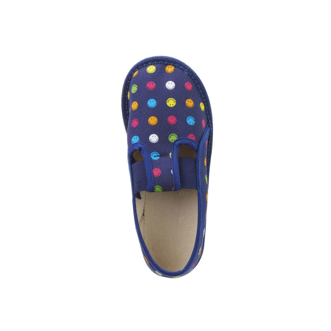 Dětská domácí obuv bata, modrá, 179-9105 - 19
