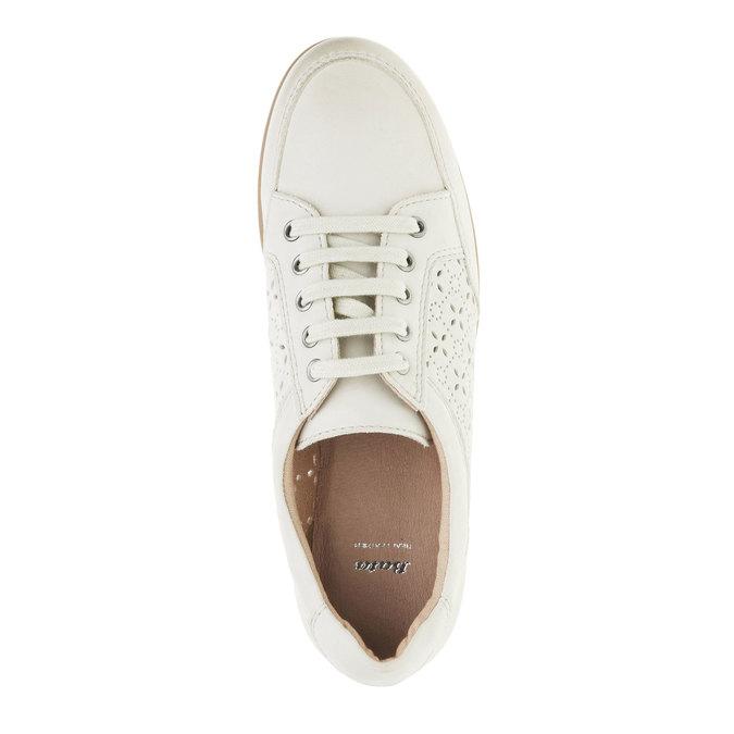 Ležérní kožené tenisky bata, bílá, 524-1511 - 19