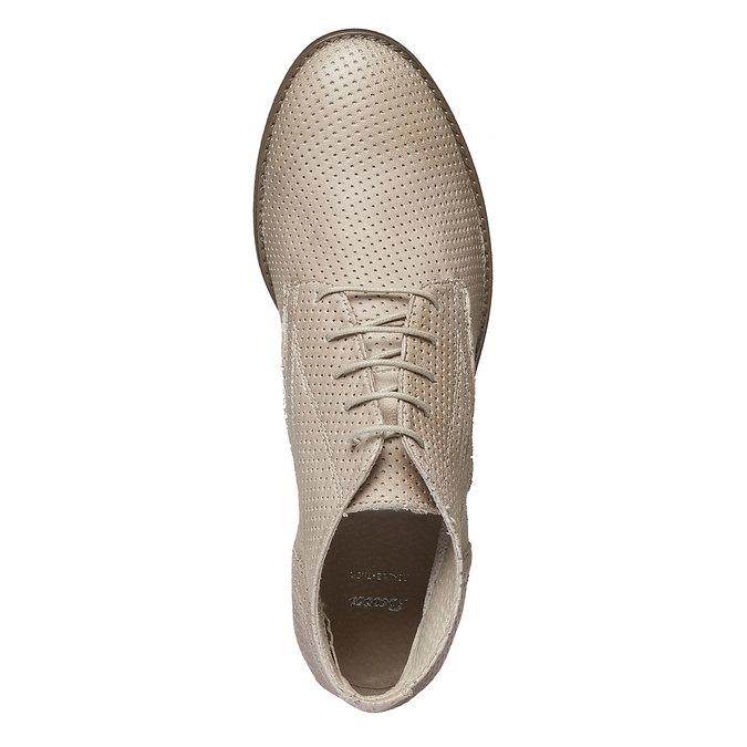 Dámské kožené kotníčkové boty bata, béžová, 524-8468 - 19
