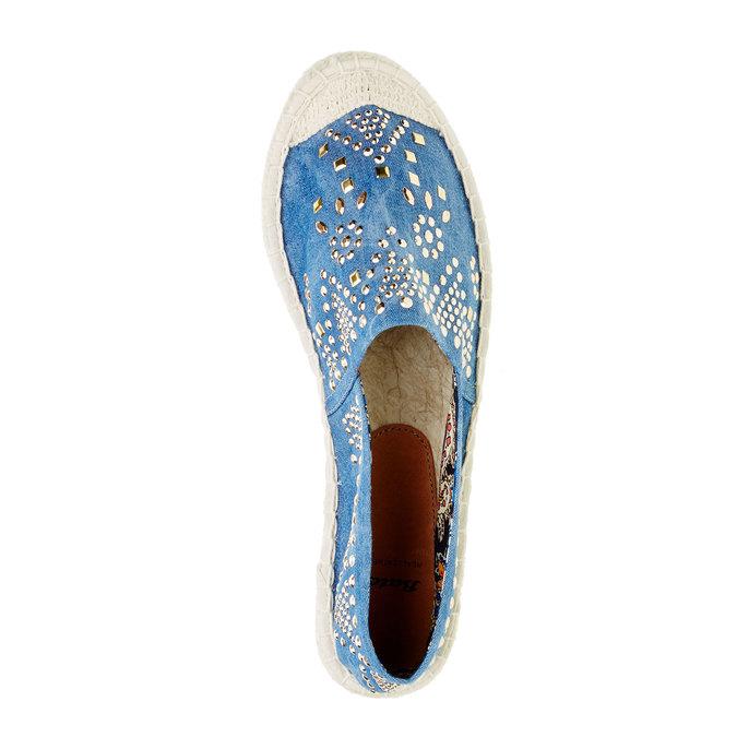 Dámská obuv typu Espadrilles bata, modrá, 559-9401 - 19