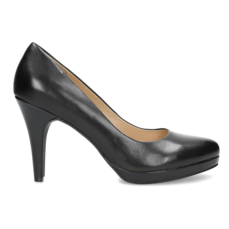 01f6d50cb4 Insolia Černé kožené lodičky - Všechny boty
