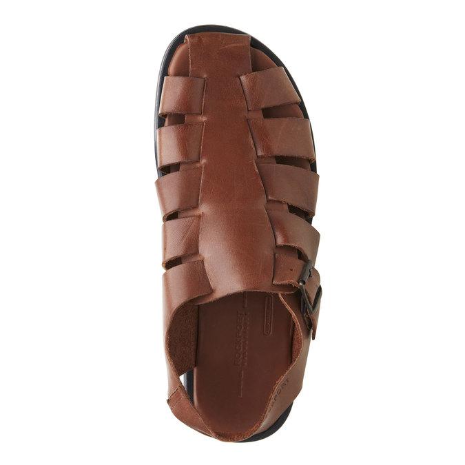 Pánské kožené sandály rockport, hnědá, 864-3104 - 19