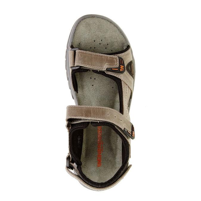 Pánské kožené sandály weinbrenner, hnědá, 866-6107 - 19