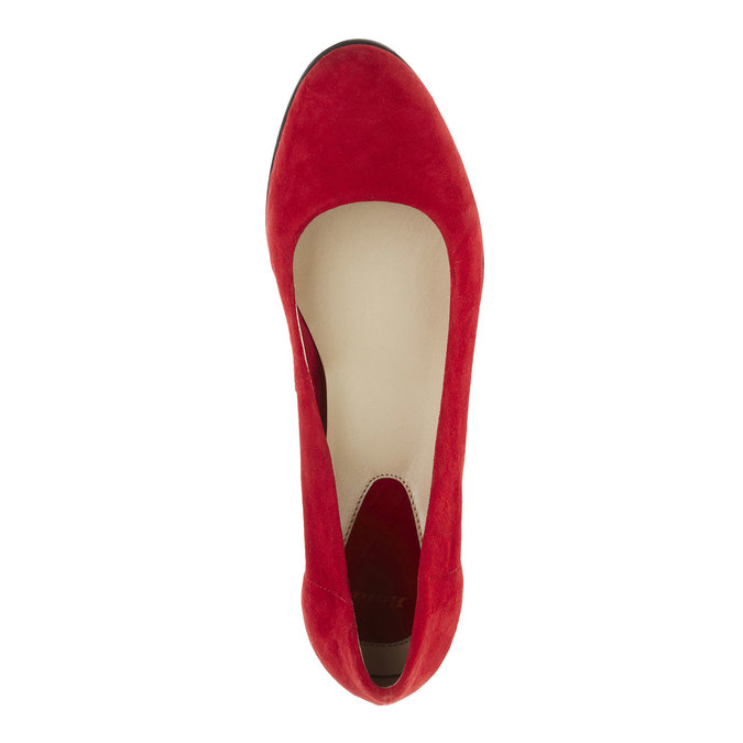 Červené kožené lodičky flexible, červená, 623-5393 - 19