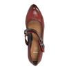 Kožené lodičky s páskem přes nárt bata, červená, 626-5604 - 19