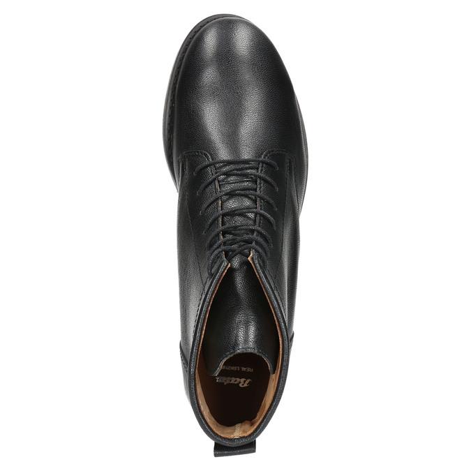 Kožená kotníčková obuv bata, černá, 594-6263 - 19