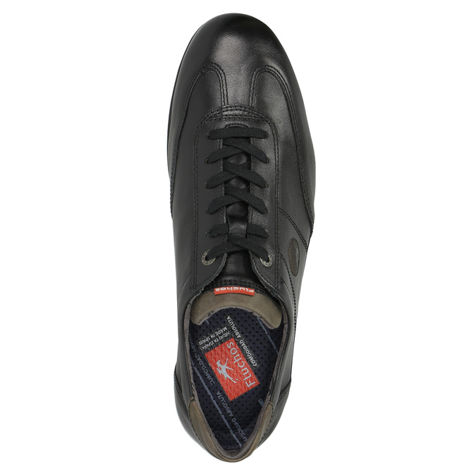 Ležérní kožené polobotky fluchos, černá, 824-6624 - 19