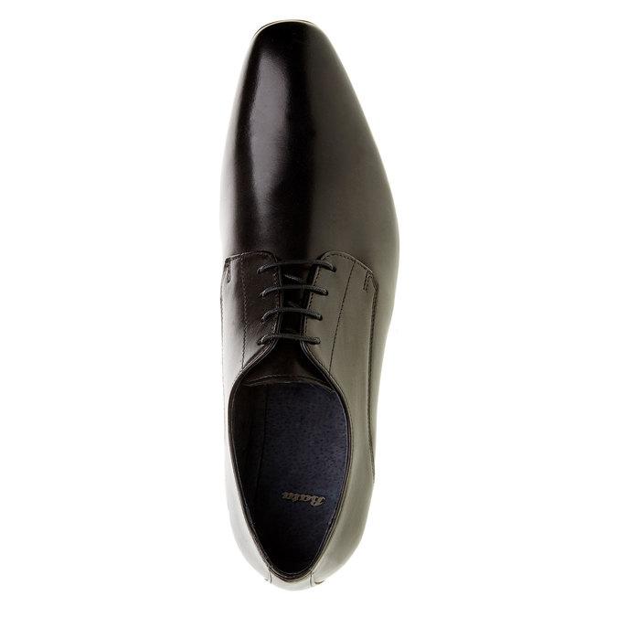 Kožené polobotky v Derby střihu bata, černá, 824-6276 - 19
