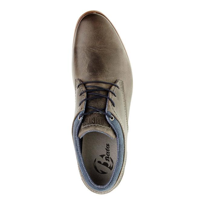 Módní kožené polobotky bata, hnědá, 824-2102 - 19