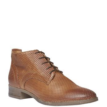 Dámské kožené kotníčkové boty bata, hnědá, 524-3468 - 13