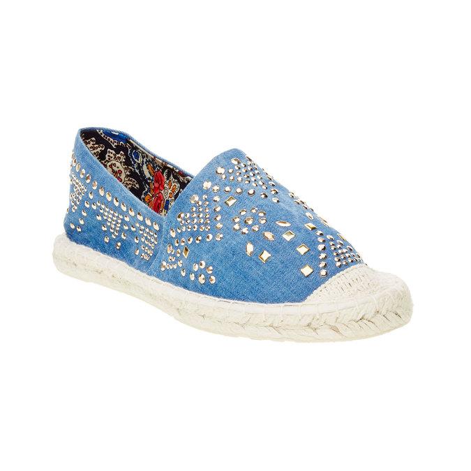 Dámská obuv typu Espadrilles bata, modrá, 559-9401 - 13