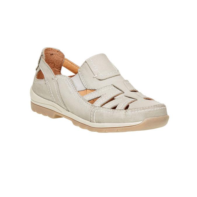 Neformální kožené polobotky bata, béžová, 524-3116 - 13