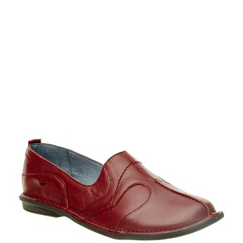 Dámská kožená obuv bata, červená, 556-5100 - 13
