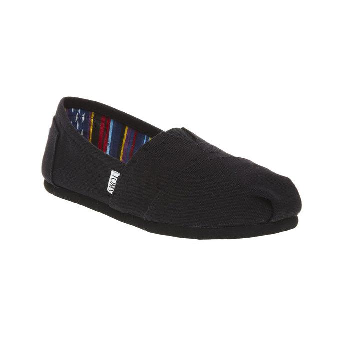 Dámské Slip on toms, černá, 519-6004 - 13