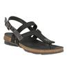 Dámské kožené sandály weinbrenner, černá, 566-6101 - 13