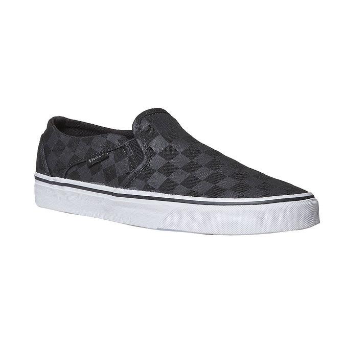 Dámská Slip-on obuv se vzorem vans, černá, 589-6288 - 13