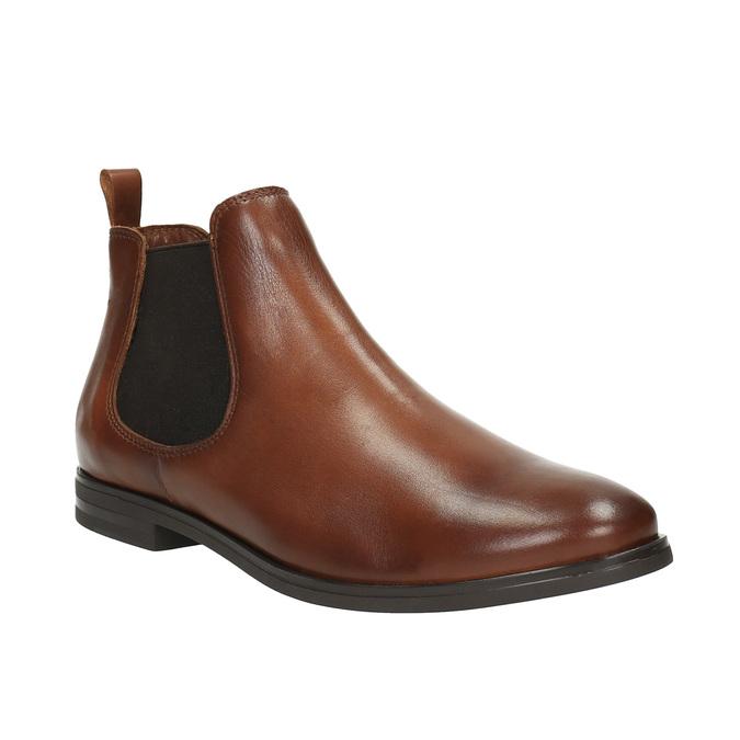 Kožené hnědé Chelsea Boots bata, hnědá, 594-4604 - 13