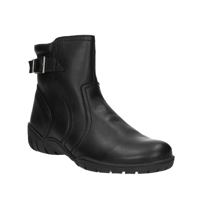 Dámská kožená zimní obuv bata, černá, 594-6347 - 13