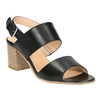 Kožené sandály na širokém podpatku bata, černá, 664-6205 - 13