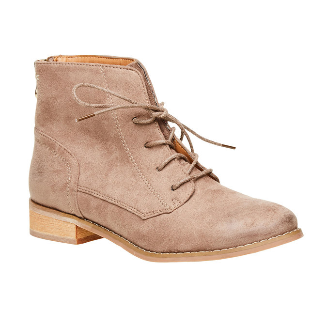 Kotníčkové boty se zipem bata, béžová, 599-2493 - 13