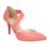 Dámské lodičky do špičky s páskem přes nárt bata, vícebarevné, růžová, 724-0904 - 13