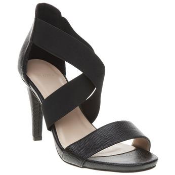 Dámské páskové sandály na vysokém podpatku bata, černá, 769-6300 - 13
