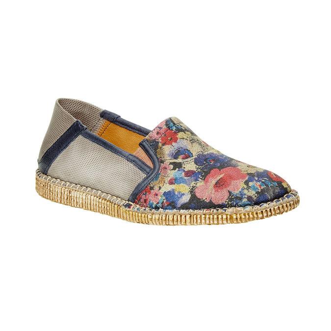 Pánská obuv Slip on s květinovým vzorem, béžová, 2019-816-9003 - 13