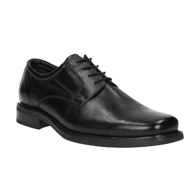 Pánské kožené polobotky bata, černá, 824-6655 - 13