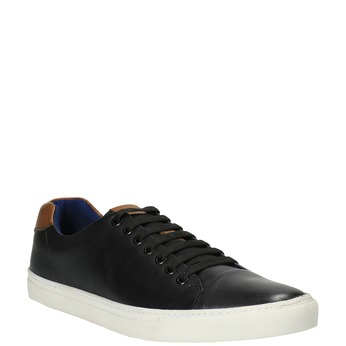 Pánské kožené tenisky bata, černá, 844-6626 - 13
