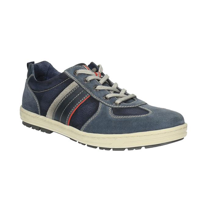 Pánské kožené tenisky bata, modrá, 826-9649 - 13