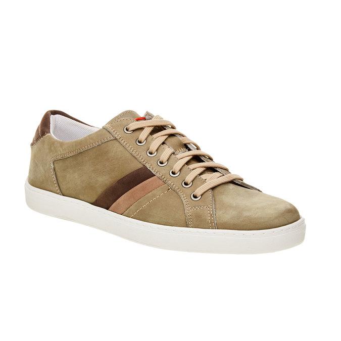 Ležérní kožené tenisky bata, hnědá, 846-7638 - 13