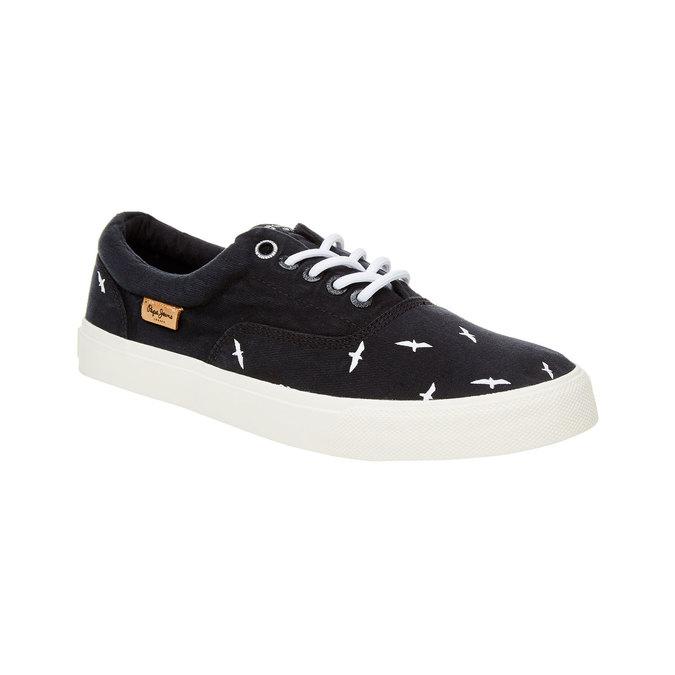 Pánské černé ležérní tenisky pepe-jeans, černá, 849-6007 - 13