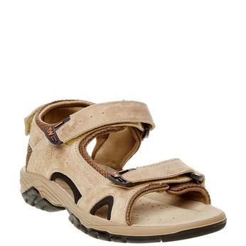 Pánské kožené sandály weinbrenner, hnědá, 866-3107 - 13