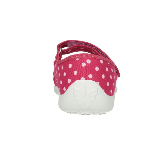 Dětská domácí obuv s páskem přes nárt mini-b, růžová, 379-5209 - 17