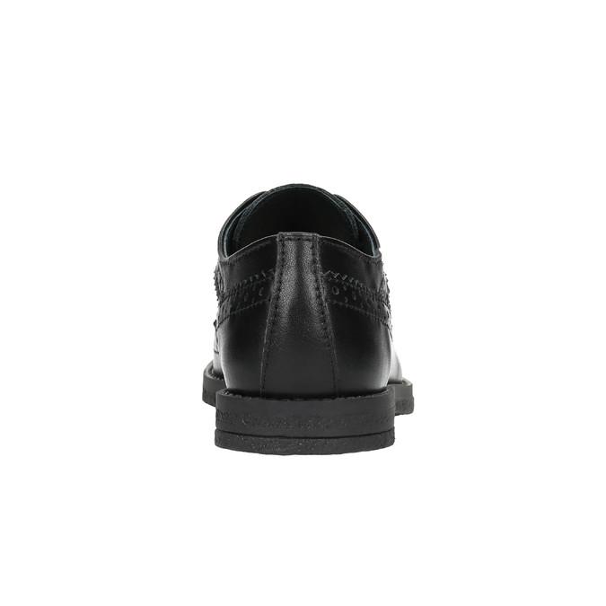 Chlapecké kožené polobotky richter, černá, 424-6006 - 17