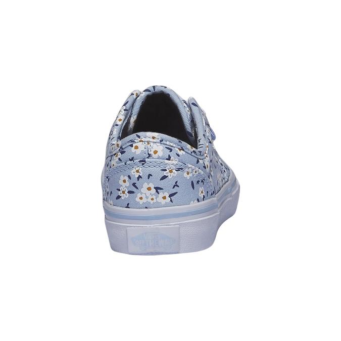Dětské tenisky s potiskem kytiček vans, modrá, 389-9107 - 17