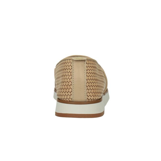 Dámské kožené Slip-On flexible, béžová, 515-8203 - 17