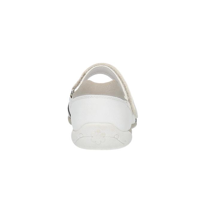 Bílé baleríny s páskem přes nárt bata, bílá, 321-1310 - 17