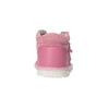 Dívčí kožená domácí obuv bata, růžová, 104-5001 - 17