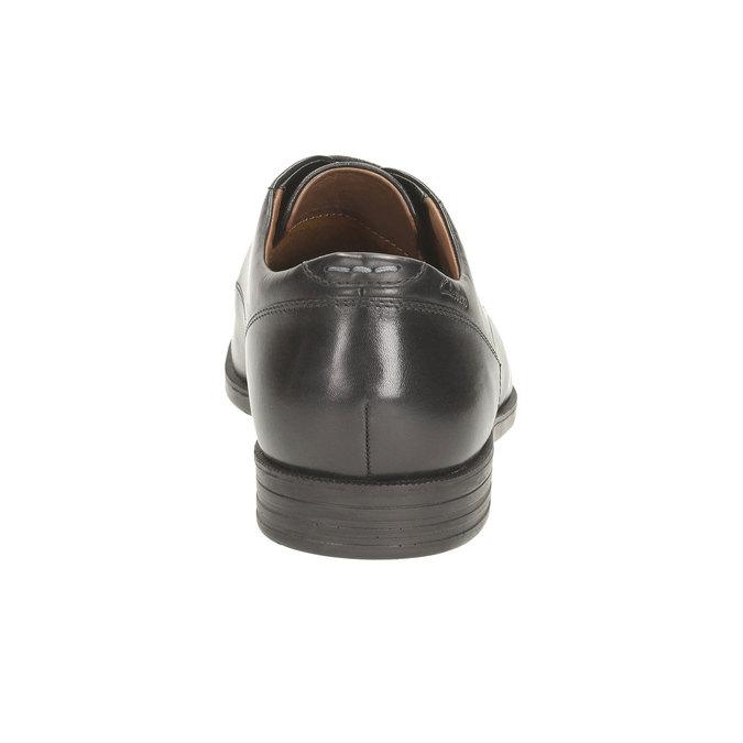 Pánské kožené polobotky clarks, černá, 824-6316 - 17