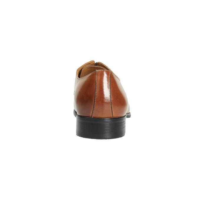 Hnědé kožené polobotky v Derby střihu bata, hnědá, 824-3648 - 17