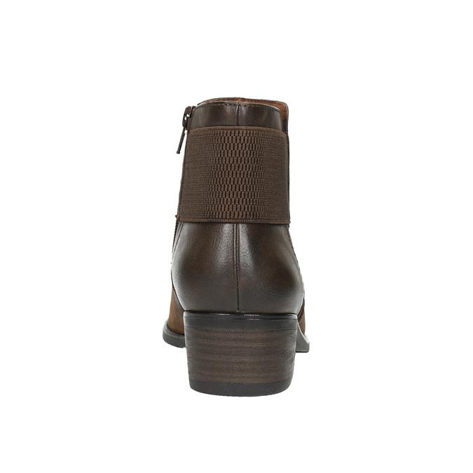 Dámská kotníčková obuv bata, hnědá, 696-4605 - 17